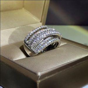 New Wide 925 Sterling Silver Women Rings